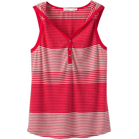 Prana Henley Midsummer Tank Women Red Ribbon